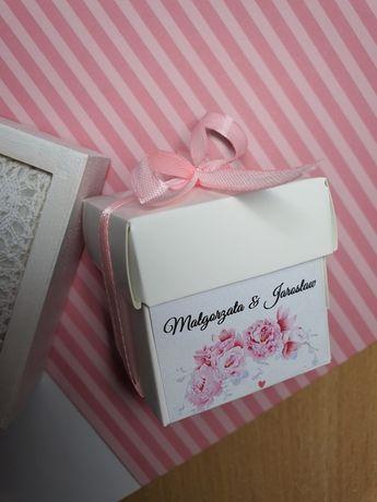 Pudełeczko na podziękowania dla gości wesele