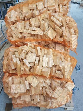 PROMOCJA! Drewno opałowe workowane 30 l. brykiet RUF