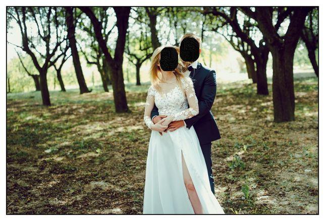Suknia ślubna Pronovias. Gratis długi welon, tren i buty Gino Rossi