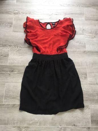 Плаття червоне з чорним кольором!!