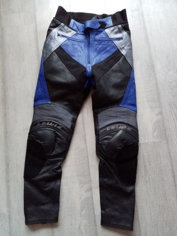 Spodnie motocyklowe skórzane rozmiar 50-L na motor motocykl! pas 90-92
