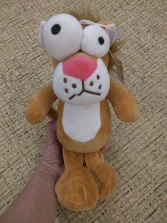 Мягкая игрушка лев львёнок необычная антистрес глазастики плюшевый