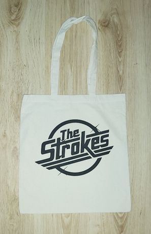 The Strokes - Tote Bag - Saco de Pano Cru