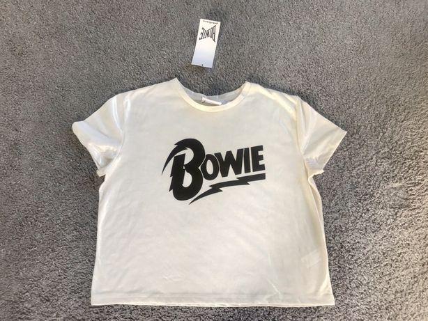 Nowy połyskliwy t-shirt