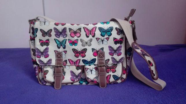 Torebka, torba na ramię w motyle kolorowa