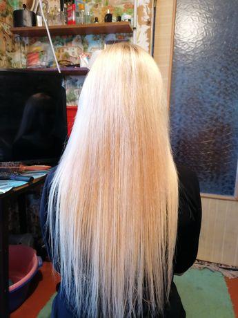 Наращивание волос, покраски прокол ушей, носа