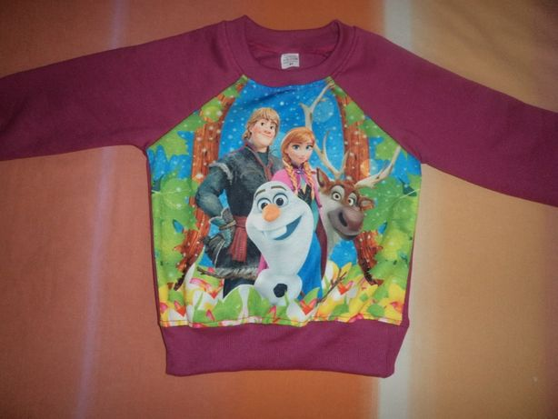 Camisola Frozen com carda menina Nova