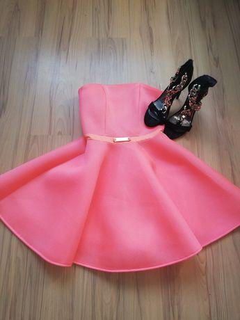 Neonowa sukienka 34
