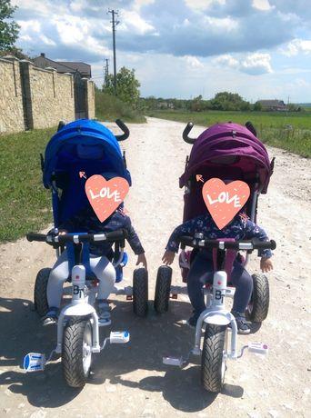 Велосипед триколісний TILLY Trike Фіолетовий та синій