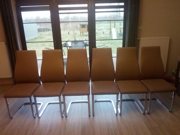 Krzesła ekoskóra 6szt