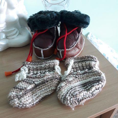 Пинетки вязаные носки 11 - 13.5 см