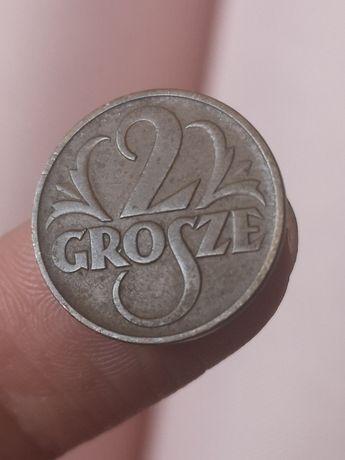2 grosze 1937 stara moneta monety kolekcja Polska II RP
