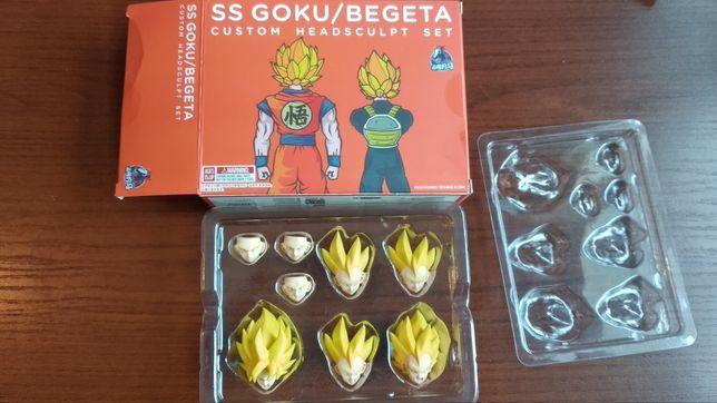 Goku/Vegeta głowy do figurek SHF, DF.