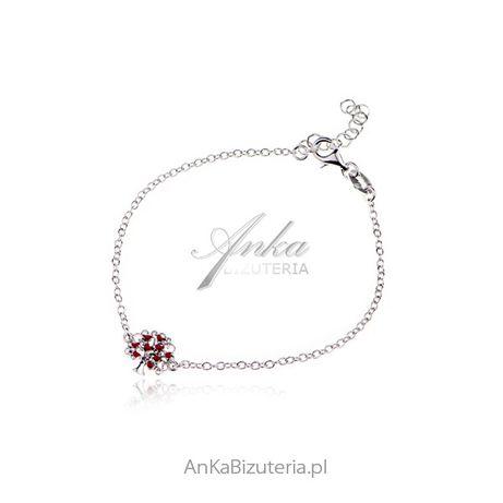 ankabizuteria.pl jubiler turek Bransoletka srebrna z czerwoną emalią D