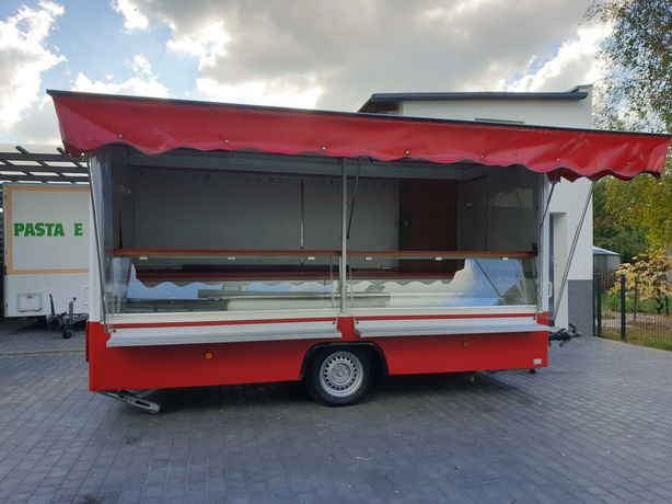 Przyczepa Gastronomiczna * Food truck * Autosklep * wędliny- ryby