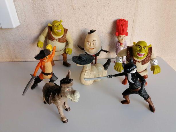 Coleção 8 bonecos Shrek do McDonald's