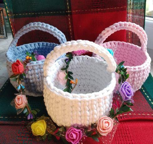 Koszyk bawełniany. Rękodzieło, handmade