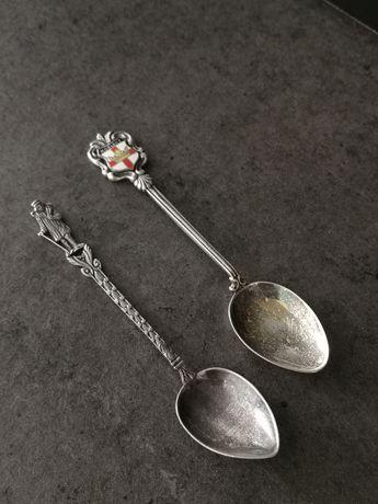stare srebrne kolekcjonerskie łyżeczki