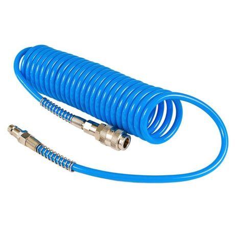 Wąż przewód spiralny pneumatyczny PU do sprężarki 5m 12x8 od ręku