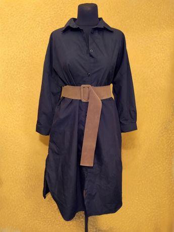 Женское удлиненное платье-рубашка