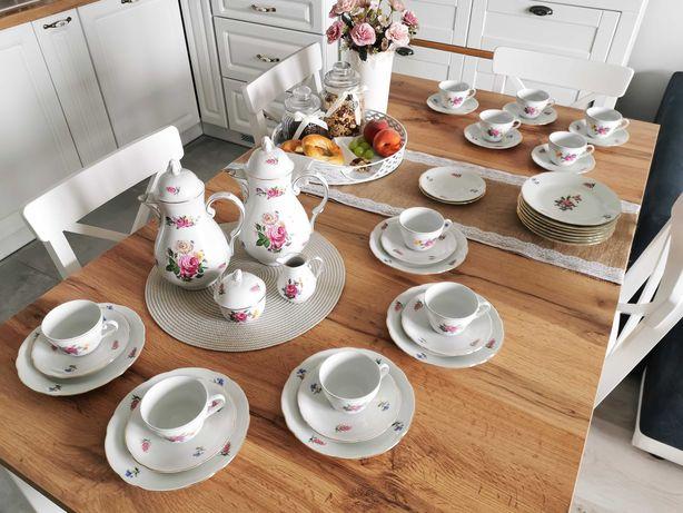 Porcelana zestaw śniadaniowy, serwis kawa/herbata