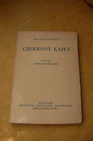 """Książka """"Czerwony Kajet"""" Benjamin Constant"""
