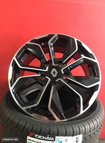 Jantes 16 Renault Megane Novas Pretas Polidas 6.5x16 ET 40 com pneus usados