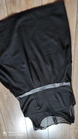 Sukienka mała czarna z siatką xl XXL 42 44
