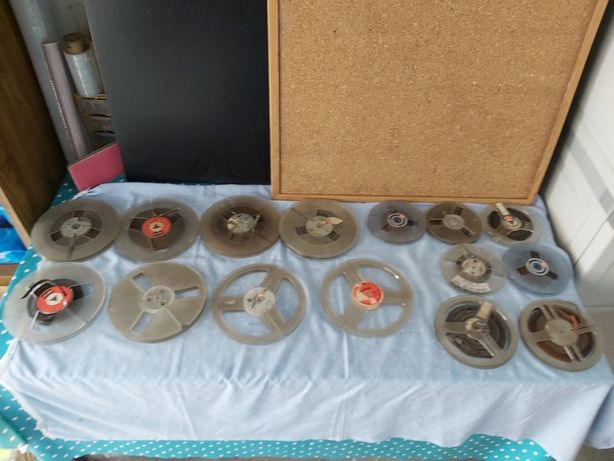 Várias bobines para gravador