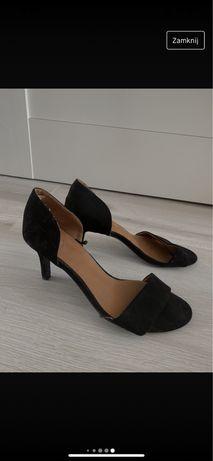 Czarne sandałki na szpilce h&m szpilki na lato