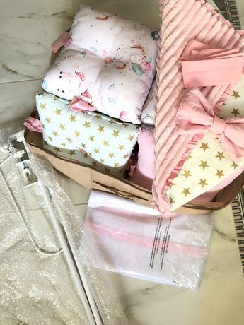 Бортики в кроватку Балдахин Держатель для балдахина