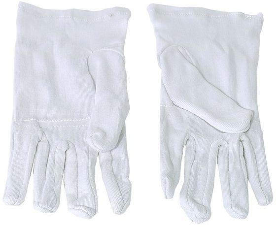 Rękawiczki białe do instrumentów dętych para
