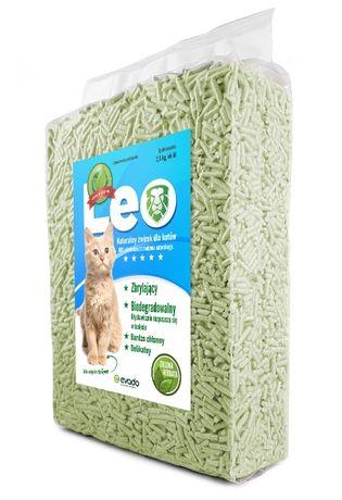 Leo - żwirek dla kota o zapachu zielonej herbaty. Nowość. Zbrylający