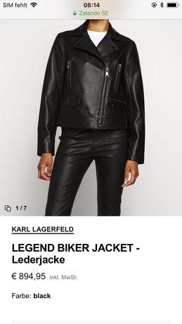 Karl Lagerfeld-kurtka skórzana/ramoneska rozm.36