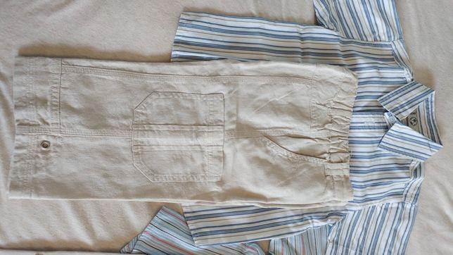 Letni komplet spodnie i koszulka FIXONI, r. 86-92