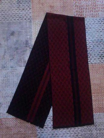 Красивый красно-черный двусторонний кашемировый шарфик 100% кашемир