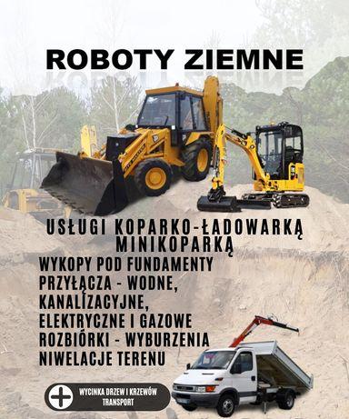 Roboty Ziemne Usługi Koparko Ładowarką Minikoparką Rozbiórki Koparka