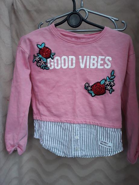Реглан свитер рубашка с вышивкой