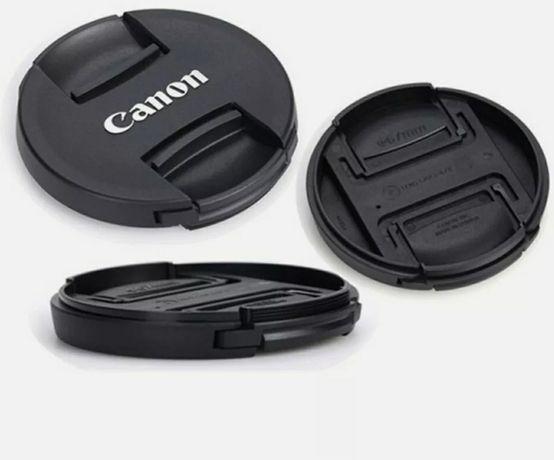 Câmera E77mm Capa Tampa Lente Frontal Snap-clipes para lentes Canon
