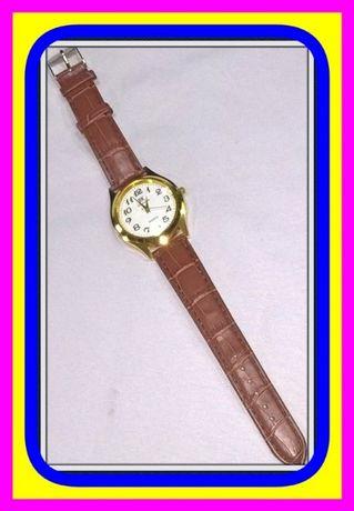 Klasyczny Okrągły Zegarek Kwarcowy Męski z Pasek