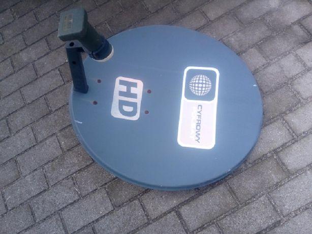 czasza antena satelitarna konwerter na 4 wyjścia