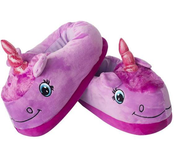 Тапочки кигуруми Фиолетовый единорог