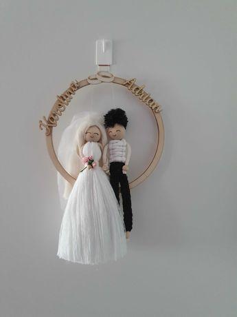 Pamiątka Ślubu, Macrame doll Państwo Młodzi