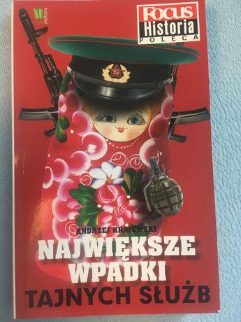 """Książka """"Największe wpadki tajnych służb""""Andrzeja Krajewskiego"""