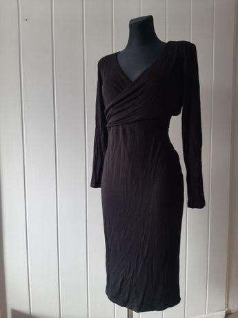 Czarna sukienka z dekoltem H&M