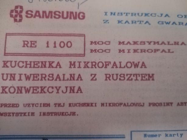 Mikrofalówka Samsung RE-1100 instrukcja i książka