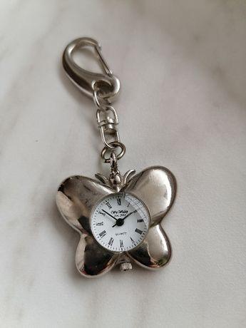 Piękny Zegarek Breloczek - Motyl