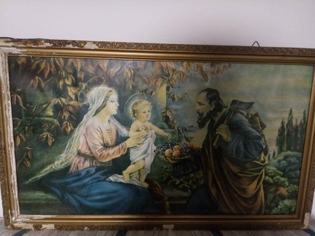 Obraz Święta Rodzina bardzo stary
