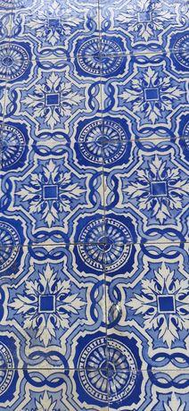 Antigos azulejos  da Carvalhinho PINTURA Manual.