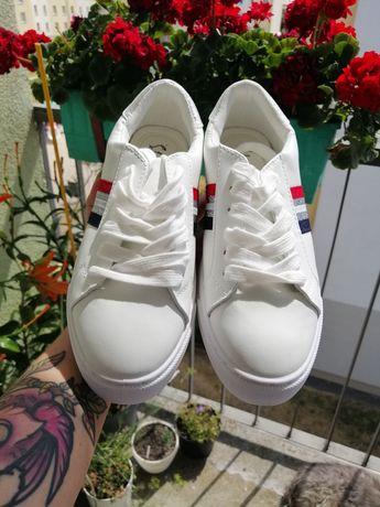 Buty sportowe białe damskie